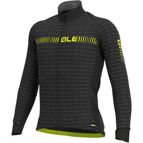 Alé Cycling Graphics PRR Green Road Winter Maillot À Manches Longues Homme, black/fluo yellow
